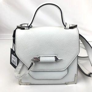 Mackage Mini Rubie White Leather Crossbody